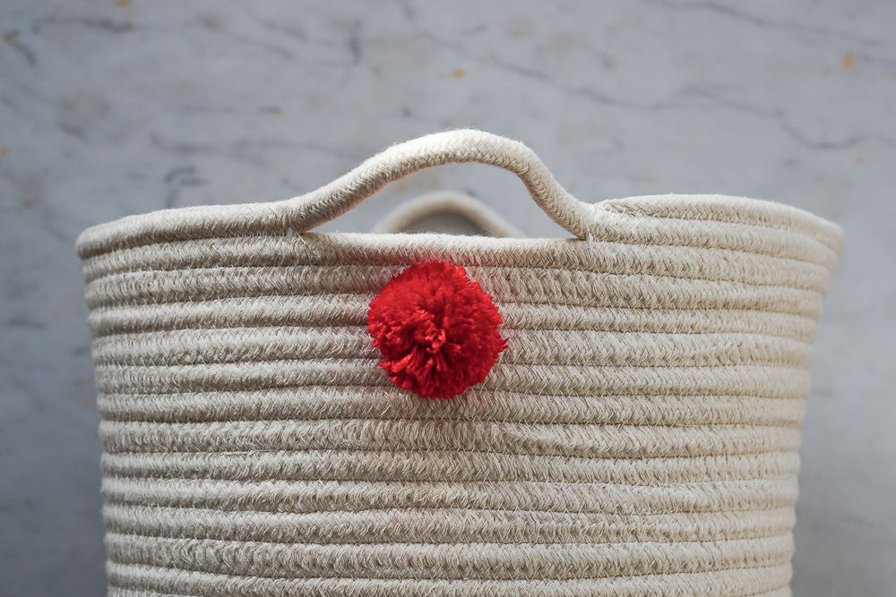 Pom Pom Adorned Storage