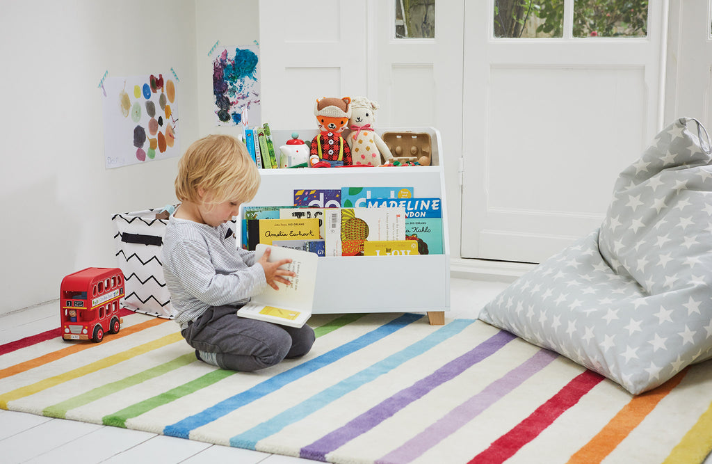Rainbow stripe rug