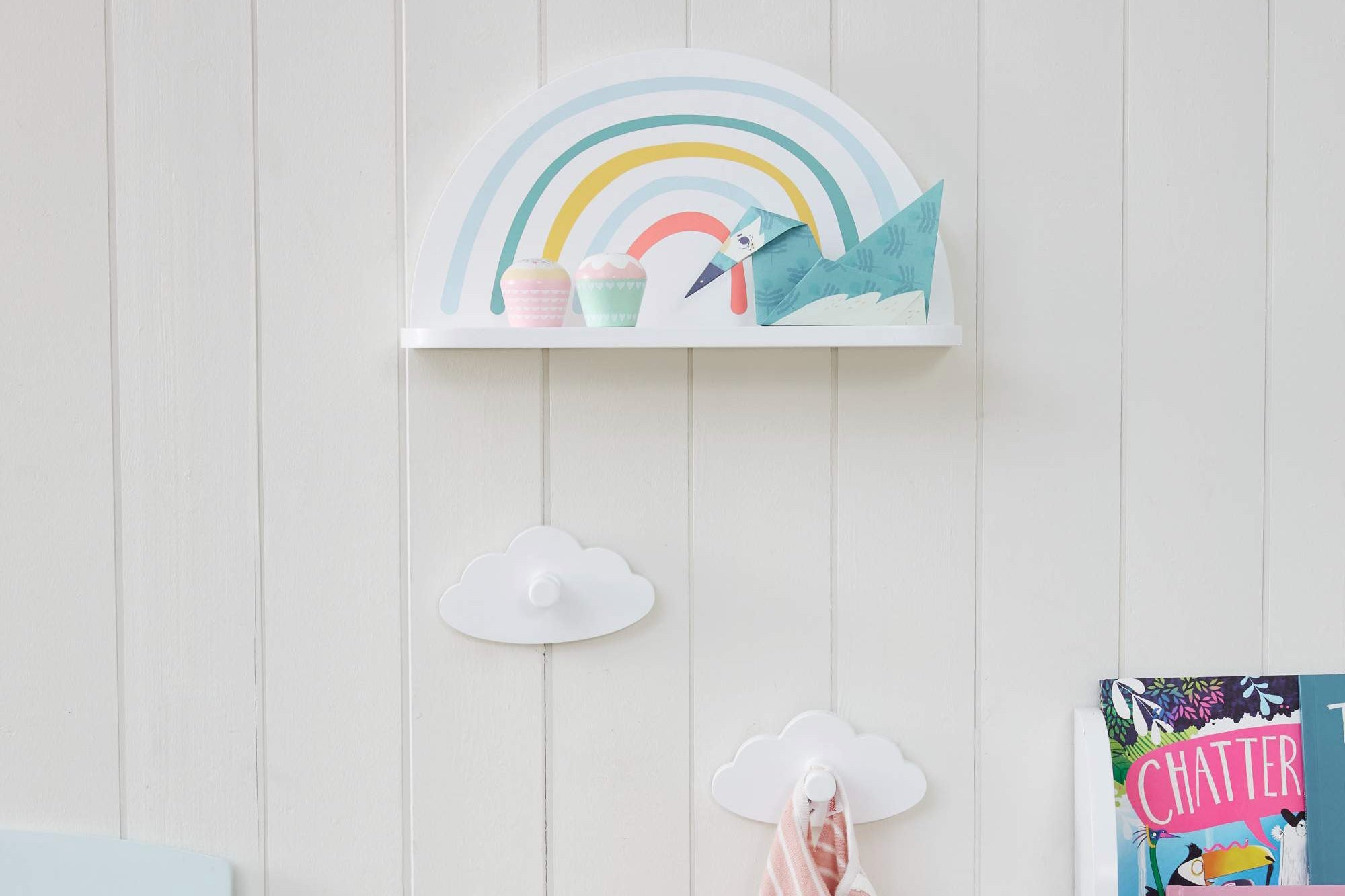 Celebrate World Book Day with a rainbow-themed book nook