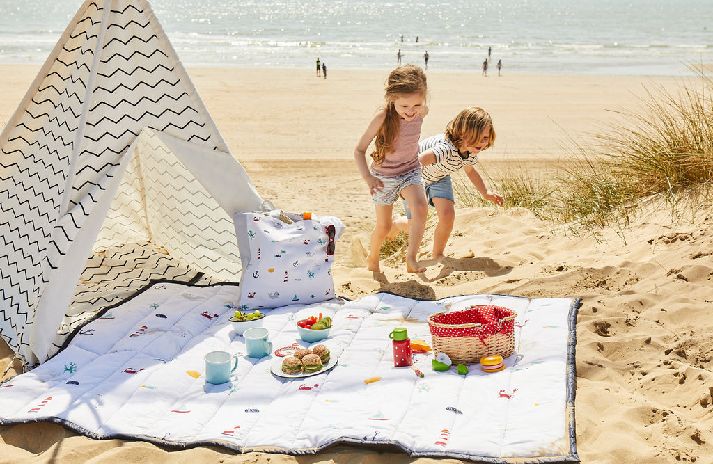 Seaside Picnic Blanket on the Beach