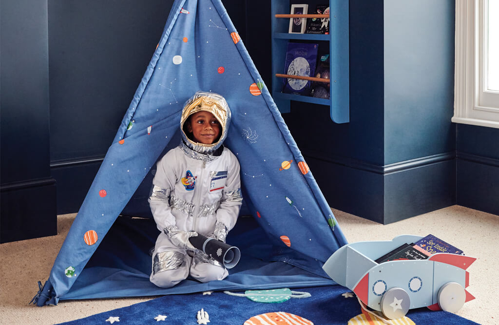 space teepee and reading corner