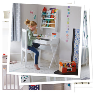 white faraday children's desk