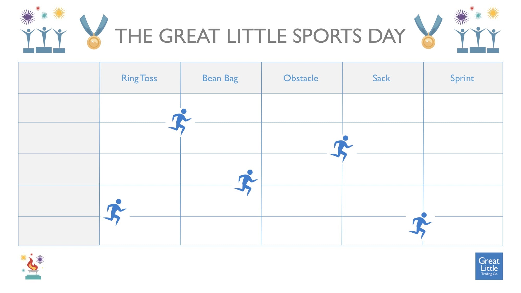 The Great Little Sports Day template