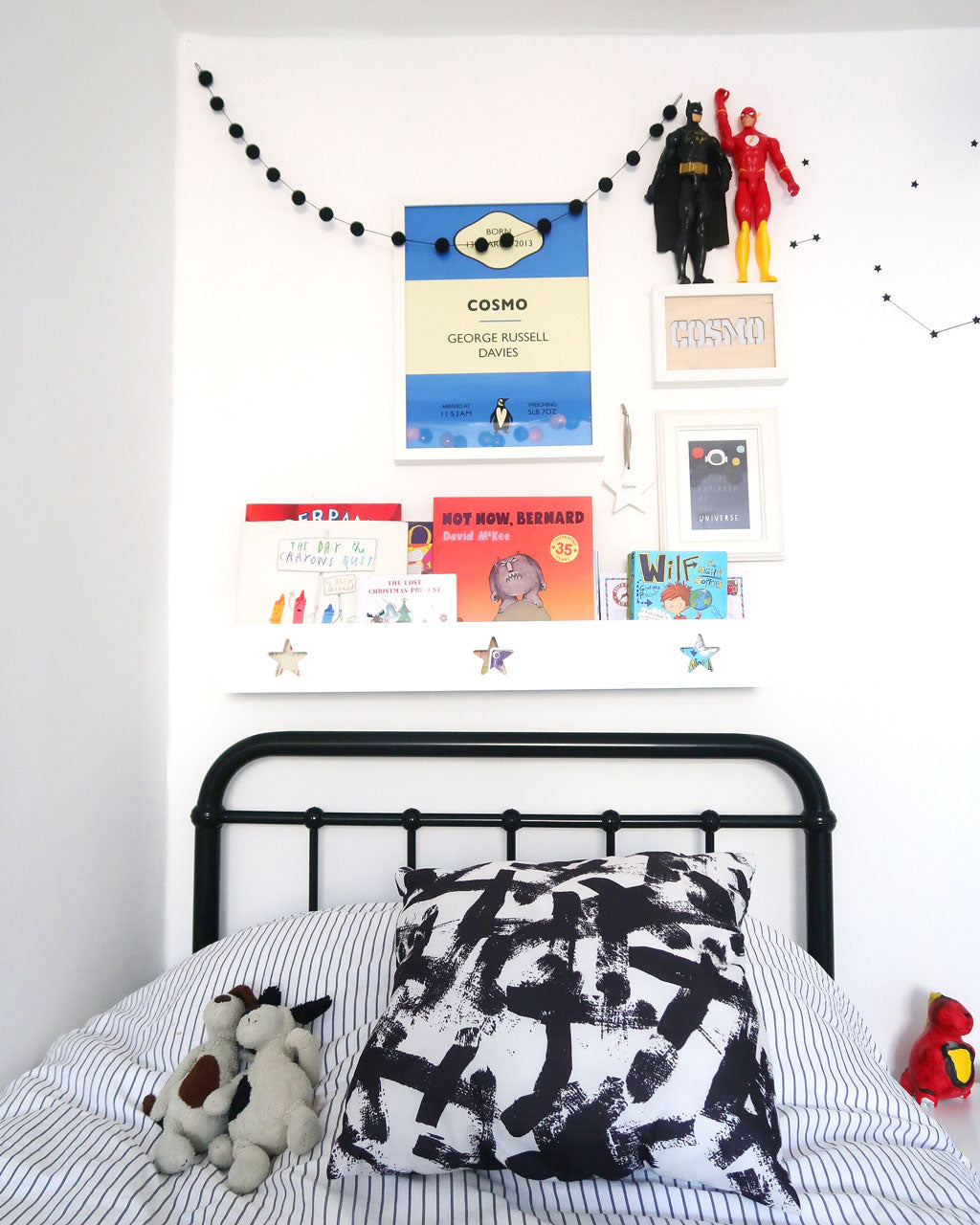 A shared bedroom for twin boys