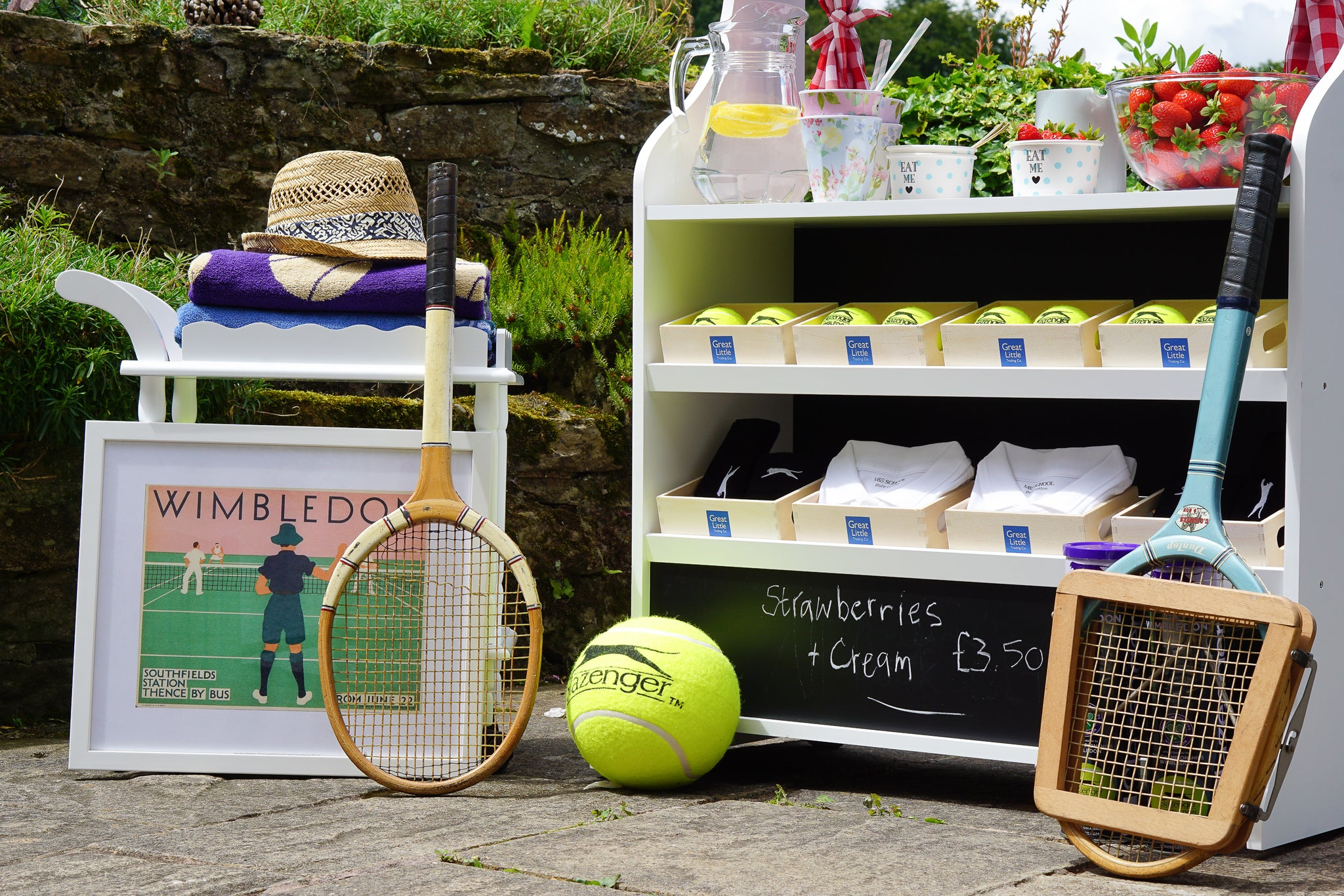 The play shop gets a Wimbledon-themed makeover