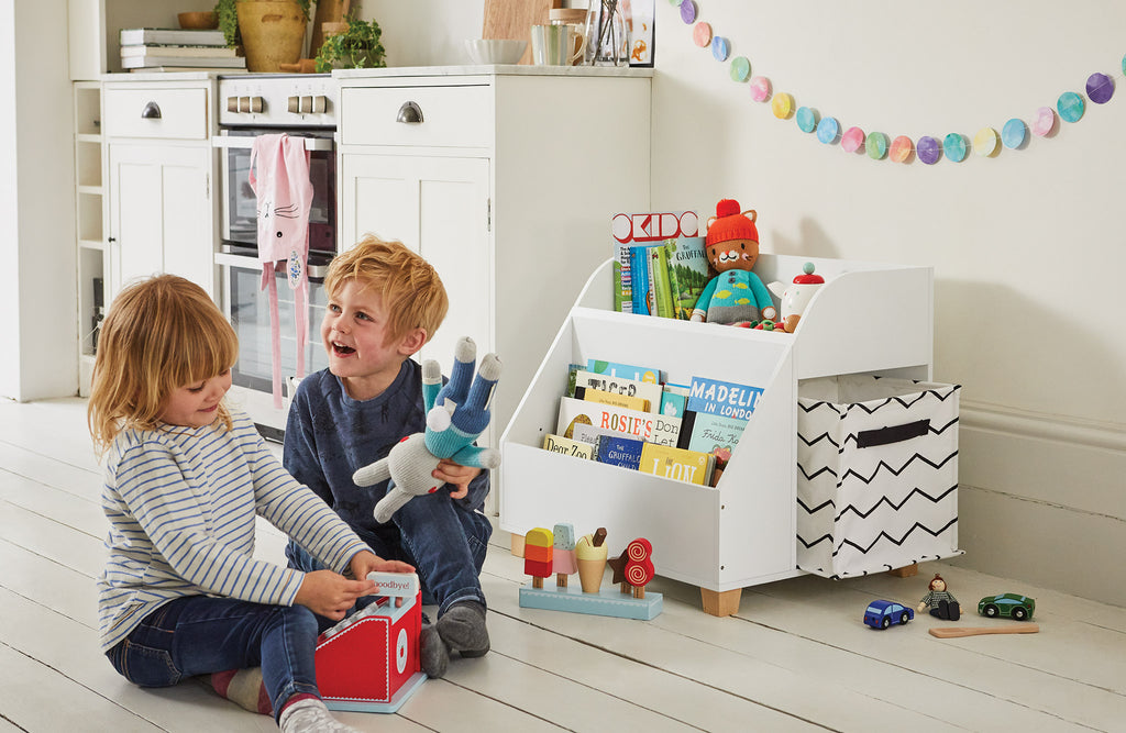 Gilliver storage in a playroom