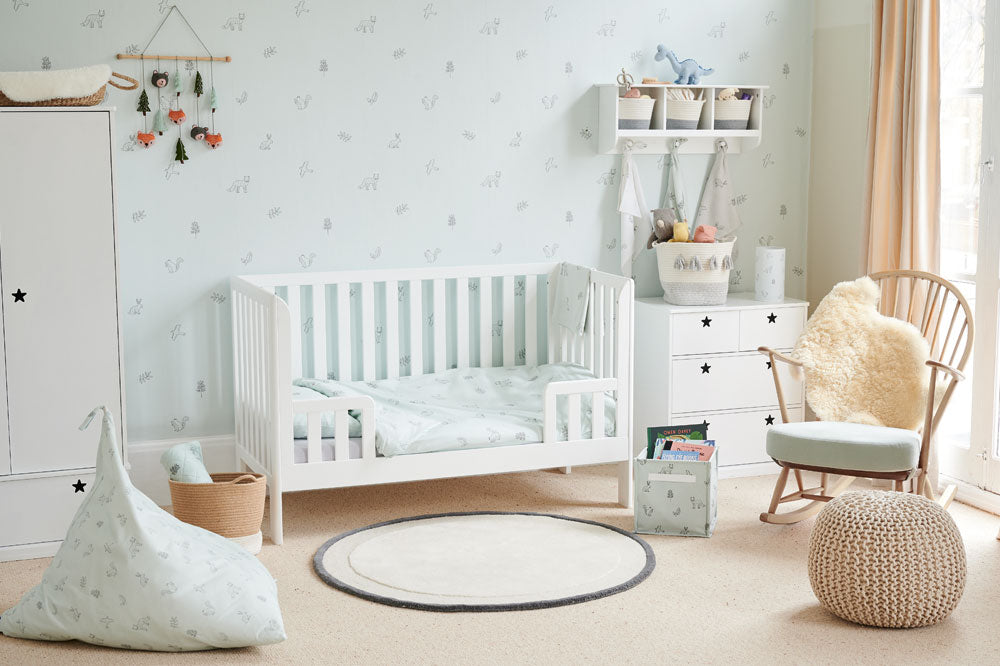 Woodland-themed toddler bedroom