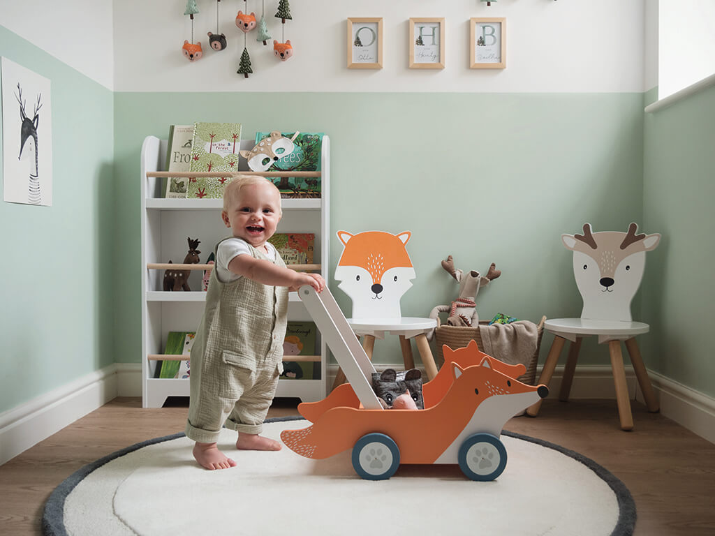 Fox themed playroom for toddlers