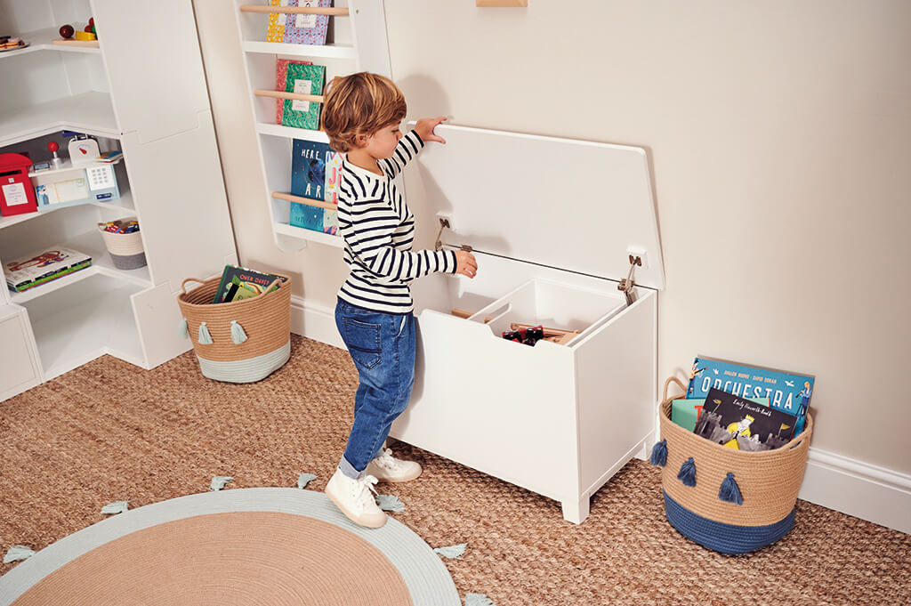 slide and store playroom