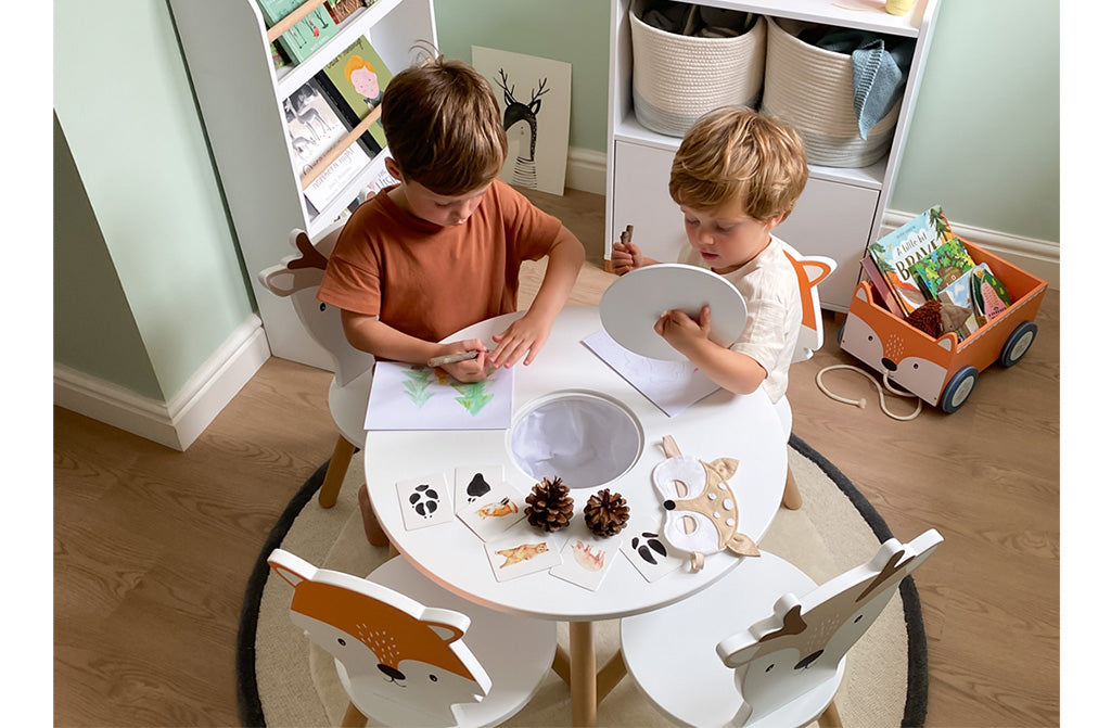 Woodland playroom with Dandelion toddler table