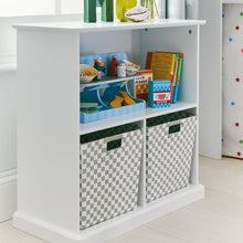 Woven Storage Cube, Grey & White