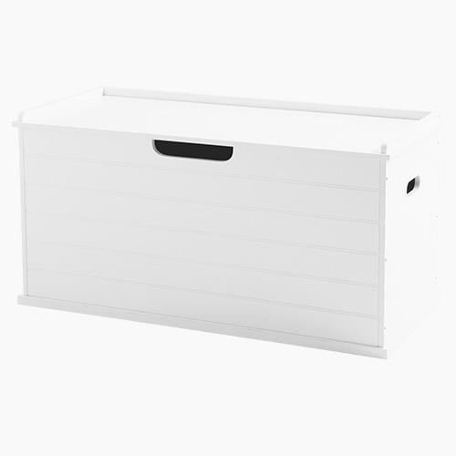 Large Classic Toy Box Seat, Bright White