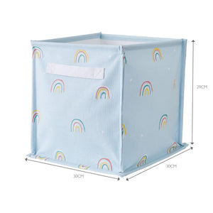 Canvas Storage Cube, Rainbow