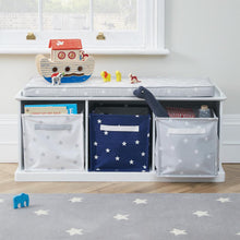 Canvas Storage Cube, Grey Stardust