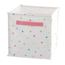 Canvas Storage Cube, Confetti Spot