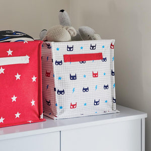 Canvas Storage Cube, Superhero