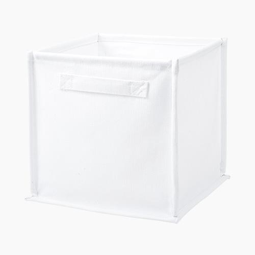 Canvas Storage Cube, White