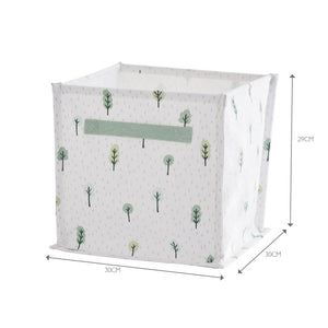 Canvas storage cube inspired by forest plants.