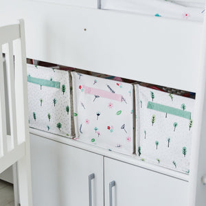 Canvas storage cubes inspired by nature.