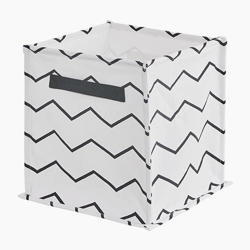 Canvas Storage Cube, Zigzag