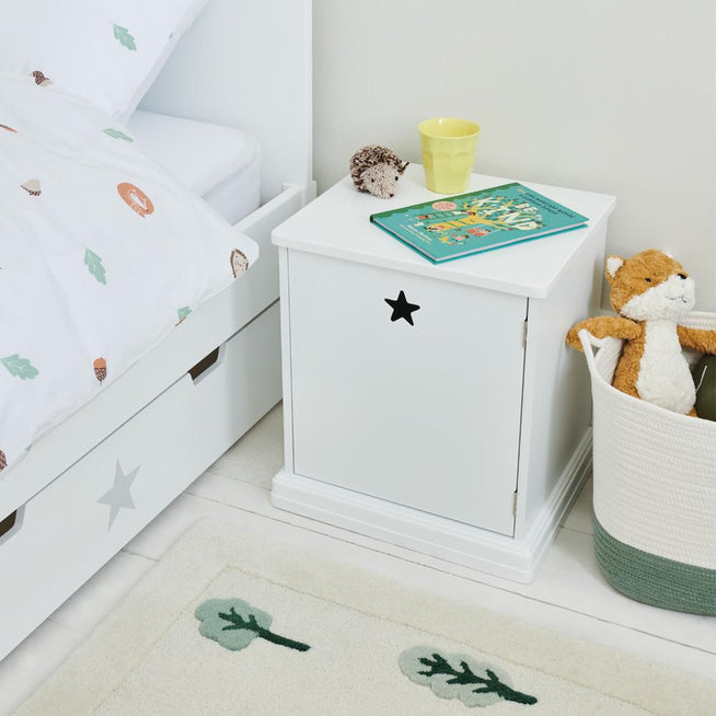 Star Bright Bedside Table Home > Furniture > White Bedroom Furniture GLTC
