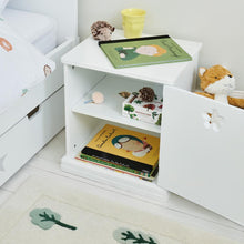 Star Bright Bedside Table, Bright White