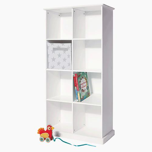 Abbeville Eight Cube Storage, White