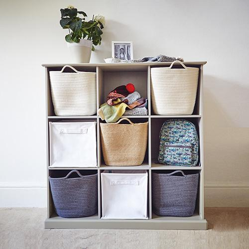 Abbeville Nine Cube Storage, Stone