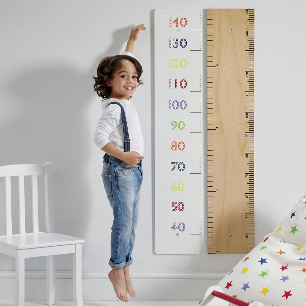 Wooden Height Chart, Rainbow