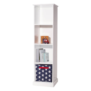 Abbeville tall four cube storage unit in white.