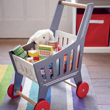 Toy Shopping Trolley, Silver
