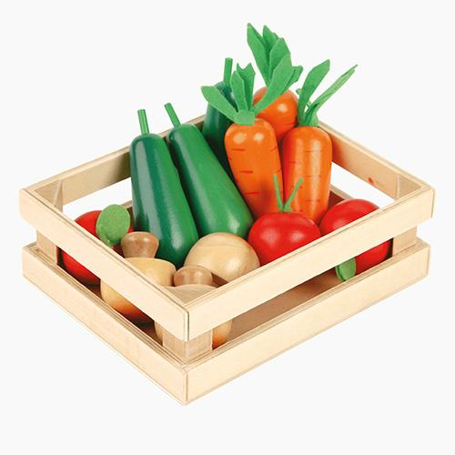 Five-A-Day Wooden Veg Box Home > Toys > Play Food GLTC