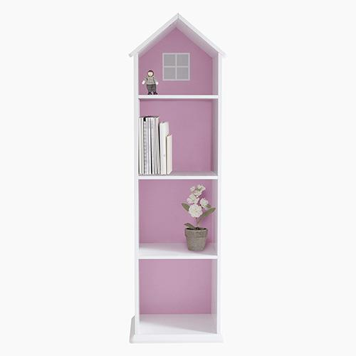 Townhouse Bookcase, Pink