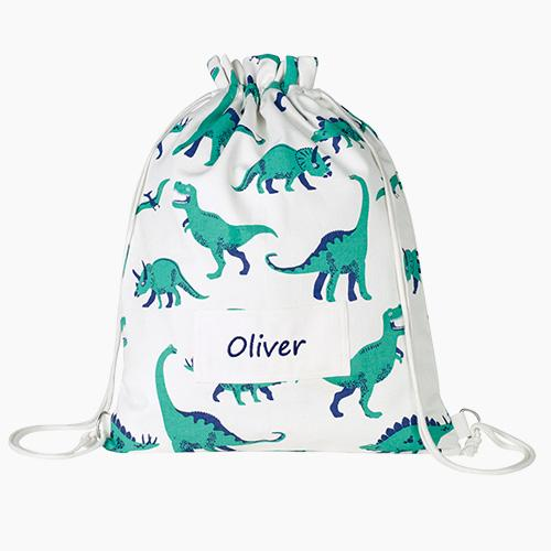 Personalised Swim Bag, Dinosaur.