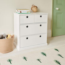 Star bright chest of drawers in white.