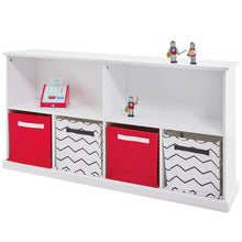 Abbeville Long Shelf Unit, White