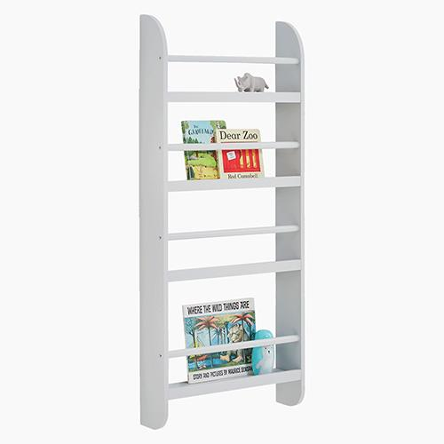 Greenaway Skinny Gallery Bookcase, Cloud Grey.