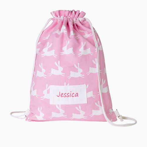 Personalised Swim Bag, Bunny Hop.