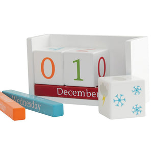 Wooden perpetual calendar for children.