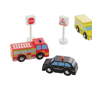 Wooden Cars & Vehicles (Set of 6)