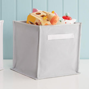 Canvas Storage Cube, Grey/White