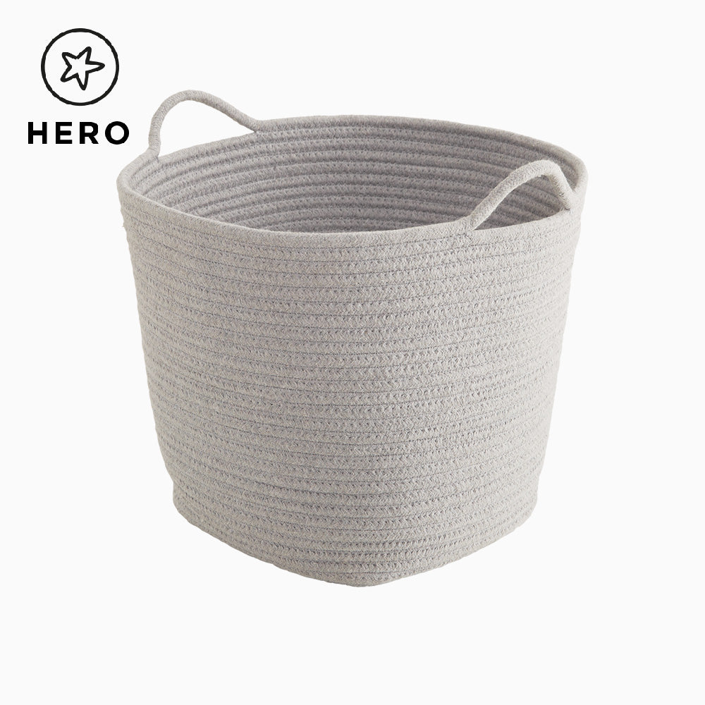 Rope Storage Basket, Grey