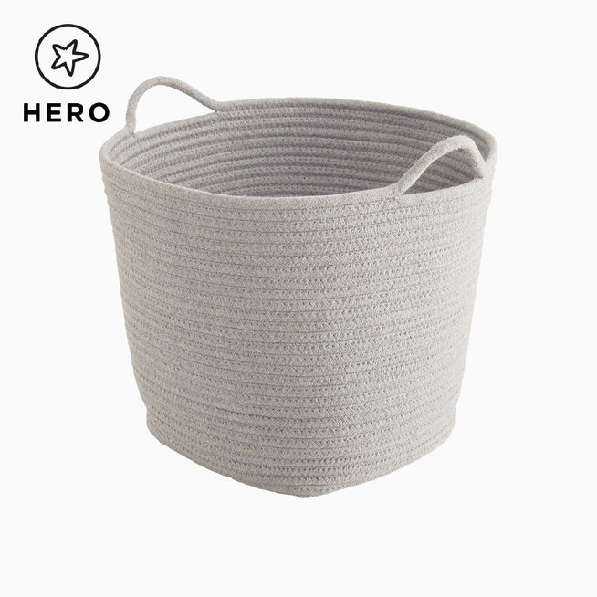 Rope Storage Basket, Grey.
