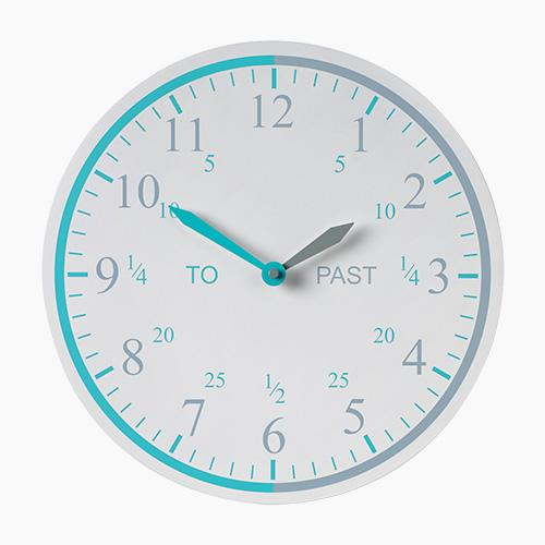 Tell the Time Wall Clock, Grey
