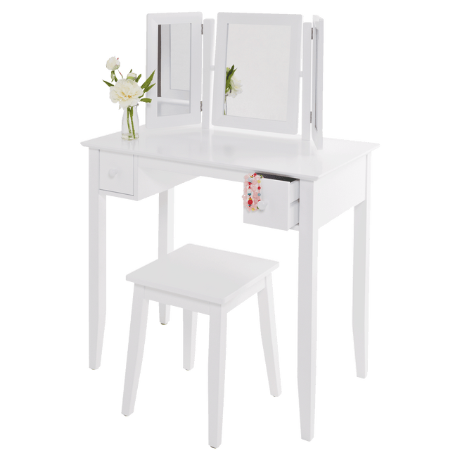 Charlotte Dressing Table & Stool Set.