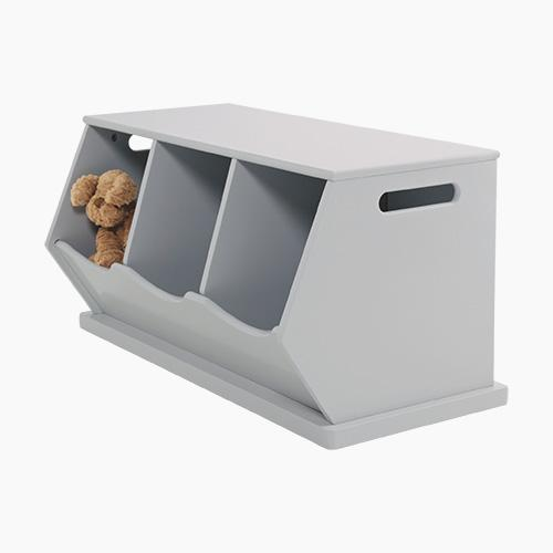 Triple Stacking Storage Trunk, Cloud Grey Home > Storage > Stacking Storage GLTC