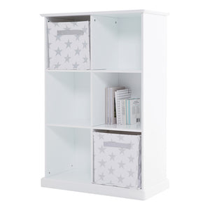 Abbeville Six Cube Storage, White