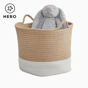 Rope Storage Basket, Ivory & Natural