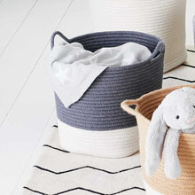 Rope Storage Basket, Ivory & Dark Grey