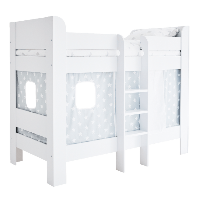 Paddington Bunk Bed with Grey Star Play Curtains Home > Accessories > Blackout Curtains G.L.T.C Limited
